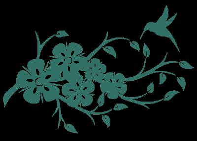 Рисунок для вышивки Веточка с цветочками